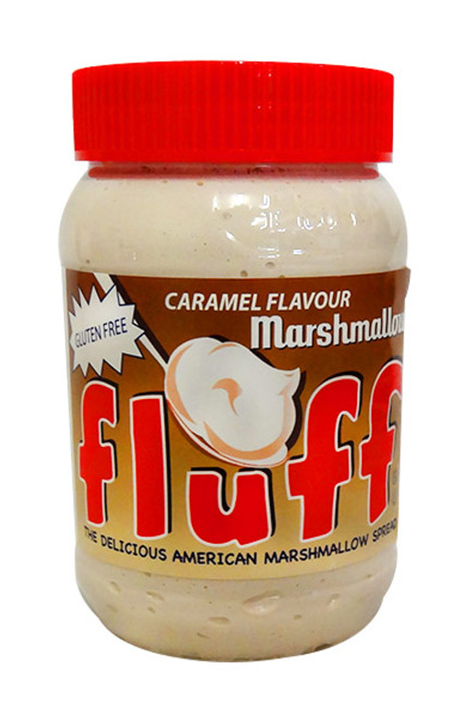 Fluff Caramel Marshmallow Spread - Caramel, by Other,  and more Snack Foods at The Professors Online Lolly Shop. (Image Number :10760)