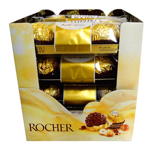Ferrero Rocher 3 pack, by Ferrero,  and more Confectionery at The Professors Online Lolly Shop. (Image Number :10809)