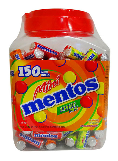 Mentos Mini Rolls - Fruit Mix, by Perfetti Van Melle,  and more Confectionery at The Professors Online Lolly Shop. (Image Number :11247)