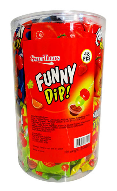 Sweet Treats Funny Dip lollipop, by Brisbane Bulk Supplies,  and more Confectionery at The Professors Online Lolly Shop. (Image Number :11260)