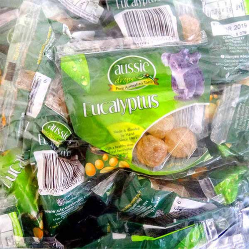 Aussie Drops - Eucalyptus Drops and more Confectionery at The Professors Online Lolly Shop. (Image Number :11237)
