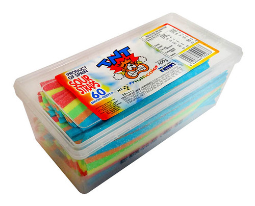 TNT Sour Straps Snack Pack - Multi-Coloured, by TNT,  and more Confectionery at The Professors Online Lolly Shop. (Image Number :11269)