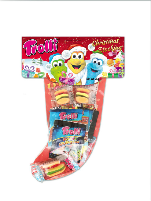 Trolli Christmas Stocking Bulk Box, by Trolli,  and more Confectionery at The Professors Online Lolly Shop. (Image Number :11788)