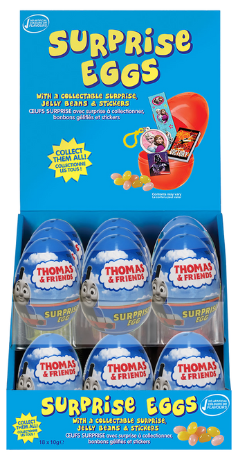 Surprise Eggs - Thomas & Friends, by Kinnerton,  and more Confectionery at The Professors Online Lolly Shop. (Image Number :11090)