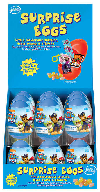 Surprise Eggs - Paw Patrol Boy, by Kinnerton,  and more Confectionery at The Professors Online Lolly Shop. (Image Number :11098)