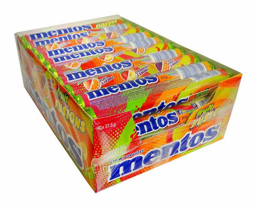 Mentos - Fruit Fuisons, by Perfetti Van Melle,  and more Confectionery at The Professors Online Lolly Shop. (Image Number :11245)