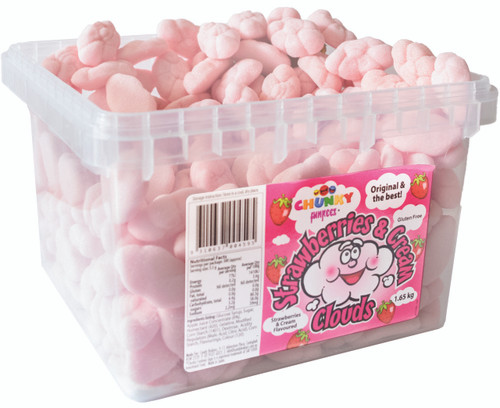 Chunky Funkeez Strawberry & Cream Clouds, by Candy Brokers,  and more Confectionery at The Professors Online Lolly Shop. (Image Number :11159)