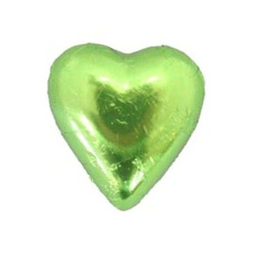 Belgian Milk Chocolate Hearts - Lime and more Confectionery at The Professors Online Lolly Shop. (Image Number :11202)