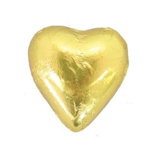 Belgian Milk Chocolate Hearts - Gold and more Confectionery at The Professors Online Lolly Shop. (Image Number :11214)