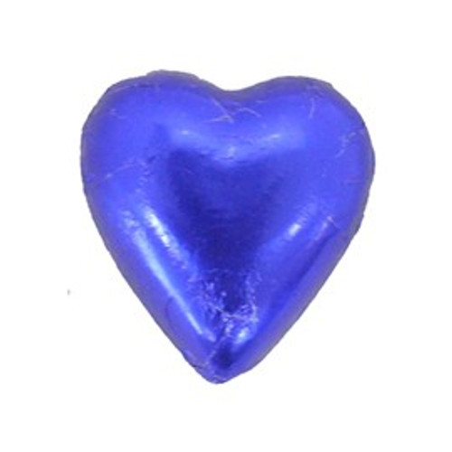 Belgian Milk Chocolate Hearts - Dark Blue and more Confectionery at The Professors Online Lolly Shop. (Image Number :11293)