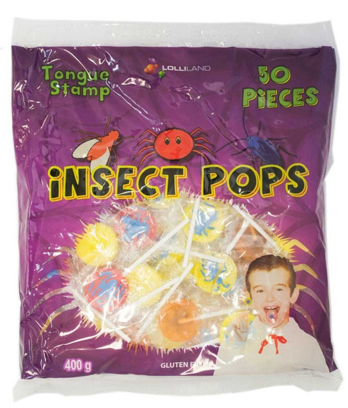 Insect Pops - Tongue Tattoo and more Confectionery at The Professors Online Lolly Shop. (Image Number :11402)