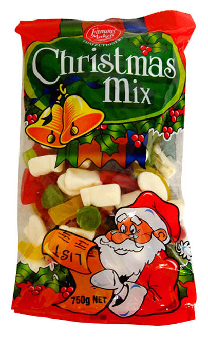 Famous Makers Christmas Gummy Mix and more Confectionery at The Professors Online Lolly Shop. (Image Number :13958)