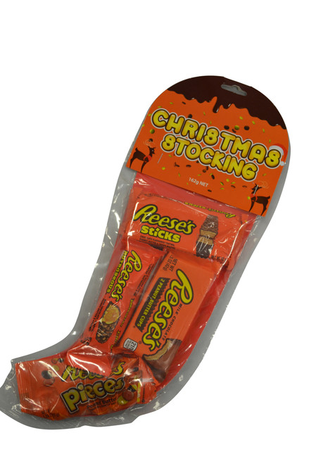 Reeses Christmas Stocking, by Reeses,  and more Confectionery at The Professors Online Lolly Shop. (Image Number :11423)