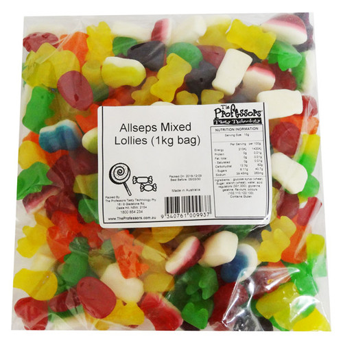 Allseps Bulk Mixed Lollies, by Allseps,  and more Confectionery at The Professors Online Lolly Shop. (Image Number :12837)