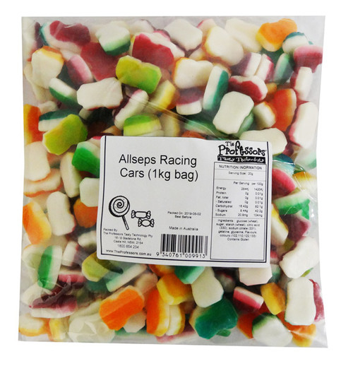 Allseps Bulk Racing Cars, by Allseps,  and more Confectionery at The Professors Online Lolly Shop. (Image Number :12840)