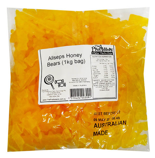 Allseps Bulk Honey Bears, by Allseps,  and more Confectionery at The Professors Online Lolly Shop. (Image Number :12154)