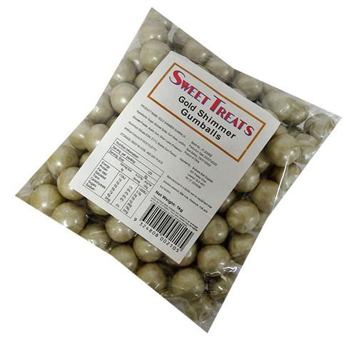 Sweet Treats Shimmer Gumballs Bulk - Gold(1kg bag)
