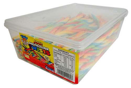 TNT Multicolour Sour Twists, by Damel,  and more Confectionery at The Professors Online Lolly Shop. (Image Number :13023)