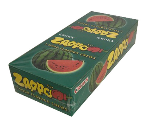 Zappo - Watermelon Chews, by Crown Confectionery,  and more Confectionery at The Professors Online Lolly Shop. (Image Number :14171)
