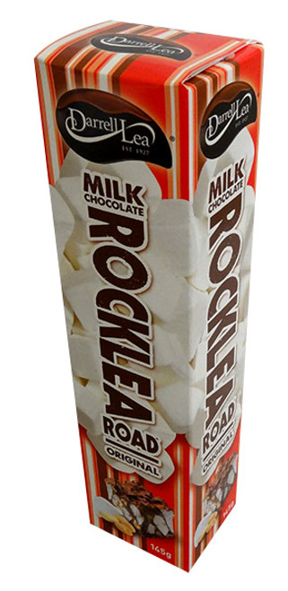 Darrell lea Rocklea Road Milk Chocolate - SIngle, by Darrell Lea,  and more Confectionery at The Professors Online Lolly Shop. (Image Number :13606)