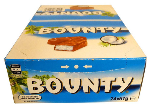 Bounty Bars Milk-Chocolate, by Cadbury,  and more Confectionery at The Professors Online Lolly Shop. (Image Number :13199)