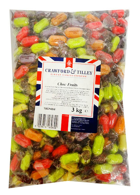 Tilleys choc fruits Wrapped, by Tilleys,  and more Confectionery at The Professors Online Lolly Shop. (Image Number :14293)