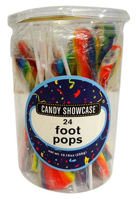 Candy showcase Foot Pops - Rainbow and more Confectionery at The Professors Online Lolly Shop. (Image Number :12762)
