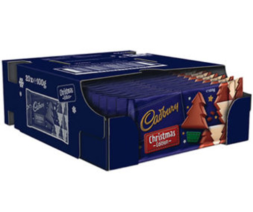 Cadbury Christmas Edition Blocks, by Cadbury,  and more Confectionery at The Professors Online Lolly Shop. (Image Number :11867)