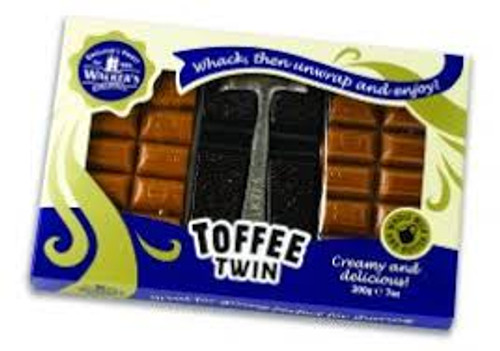 Walkers Original Creamy Toffee Twin with Hammer, by Walker's Nonsuch,  and more Confectionery at The Professors Online Lolly Shop. (Image Number :11953)