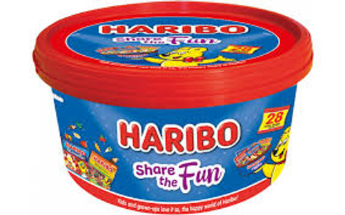 Haribo Share The Fun Tub, by Haribo,  and more Confectionery at The Professors Online Lolly Shop. (Image Number :11957)