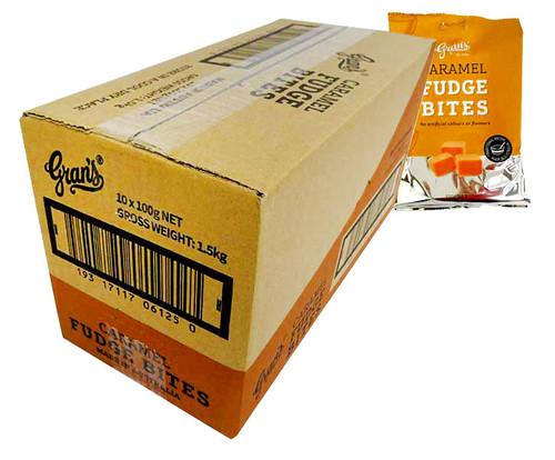 Grans Hang Sell Bag - Caramel Fudge (100g bag x 10pc box)
