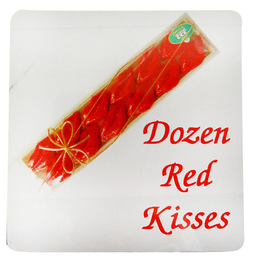 Chocolate Gems - Dozen Red Kisses, by Chocolate Gems,  and more Confectionery at The Professors Online Lolly Shop. (Image Number :12189)