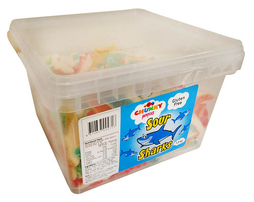 Chunky Funkeez Sour Sharks, by Candy Brokers,  and more Confectionery at The Professors Online Lolly Shop. (Image Number :12222)