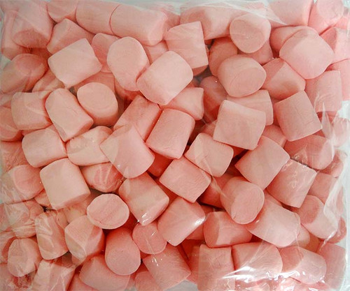 Lolliland Marshmallow Cylinders - Pink, by Lolliland,  and more Confectionery at The Professors Online Lolly Shop. (Image Number :12088)