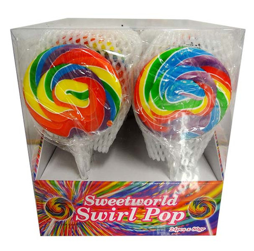 Sweetworld Swirl pop - Rainbow, by Sweetworld,  and more Confectionery at The Professors Online Lolly Shop. (Image Number :12108)