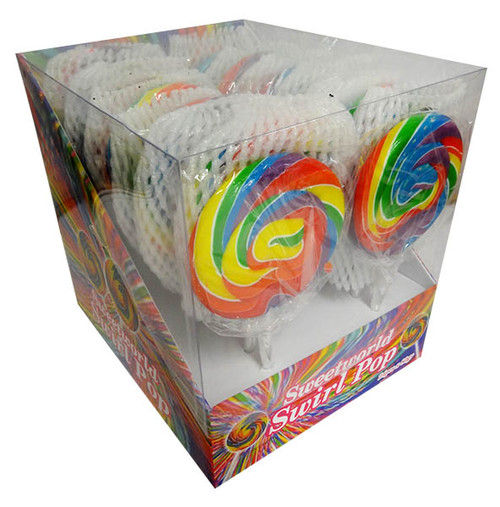 Sweetworld Swirl pop - Rainbow, by Sweetworld,  and more Confectionery at The Professors Online Lolly Shop. (Image Number :12109)