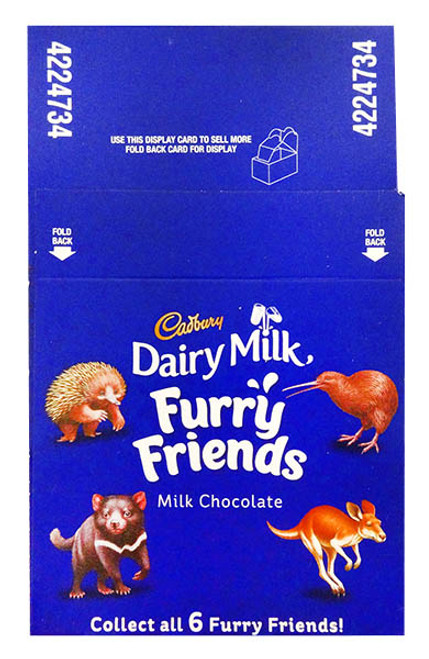 Cadbury Furry Friends, by Cadbury,  and more Confectionery at The Professors Online Lolly Shop. (Image Number :12208)
