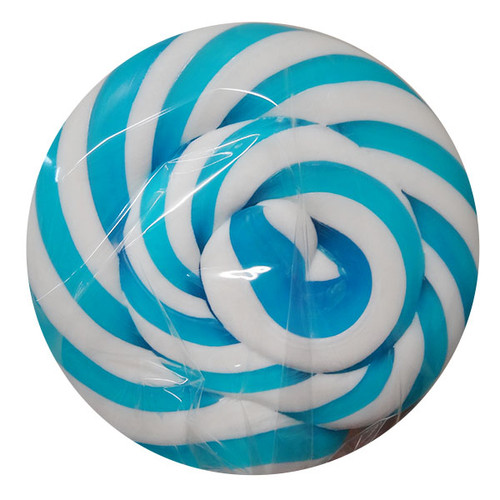 Round Light Blue and White Lollipop, by Designer Candy,  and more Confectionery at The Professors Online Lolly Shop. (Image Number :12092)