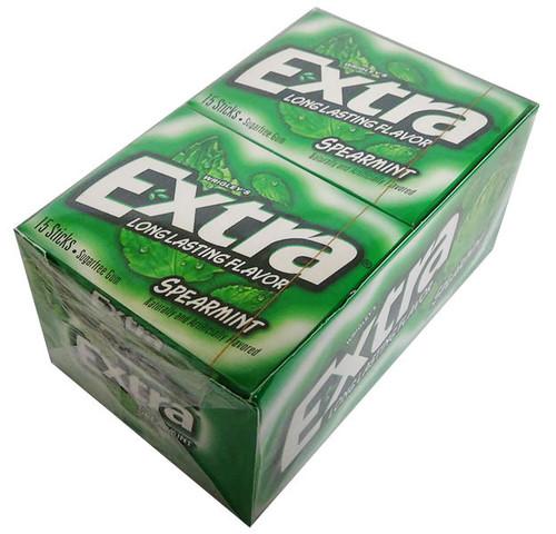 Wrigleys Extra USA - Spearmint (10 x 15 stick packs in a Display)