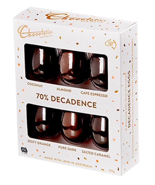 Chocolatier - Decadent Dark 6 Pack Egg Selection and more Confectionery at The Professors Online Lolly Shop. (Image Number :14096)
