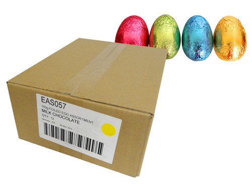 Chocolatier - Foiled Hollow Milk Eggs Assorted Foil and more Confectionery at The Professors Online Lolly Shop. (Image Number :13932)