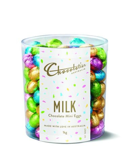 Chocolatier - RUNOUT SPECIAL - Milk Chocolate Mini Eggs Assorted Foil and more Confectionery at The Professors Online Lolly Shop. (Image Number :12393)