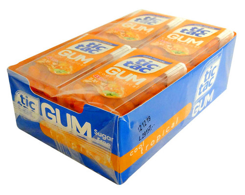 Tic Tac Gum - Tropical Gum, by Ferrero,  and more Confectionery at The Professors Online Lolly Shop. (Image Number :13012)