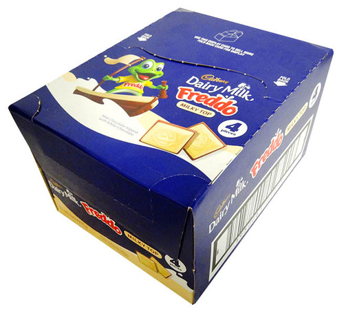 Freddo Bars Milky Top, by Cadbury,  and more Confectionery at The Professors Online Lolly Shop. (Image Number :13055)