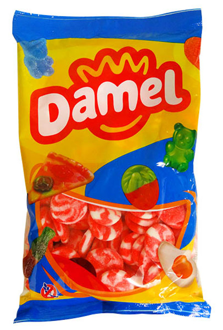 Damel Strawberry Swirls, by Damel,  and more Confectionery at The Professors Online Lolly Shop. (Image Number :12925)