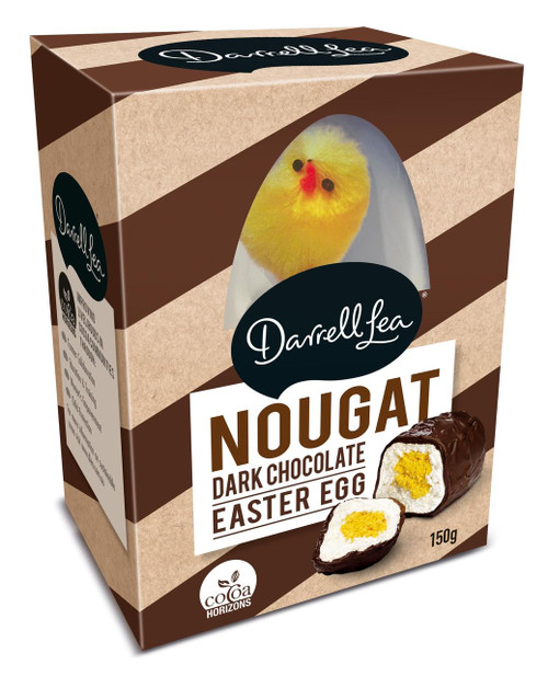 Darrell Lea Nougat Egg - Dark Chocolate with Fluffy Chick and more Confectionery at The Professors Online Lolly Shop. (Image Number :12437)