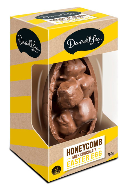 Darrell Lea Half Filled Milk Honeycomb Egg and more Confectionery at The Professors Online Lolly Shop. (Image Number :12446)