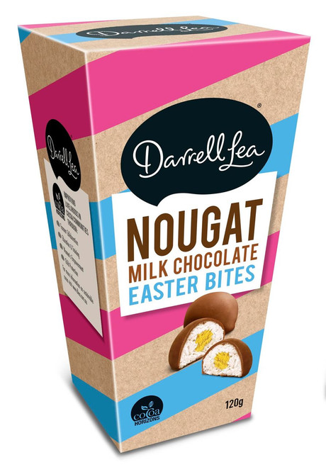Darrell Lea Milk Chocolate Nougat Easter Bites and more Confectionery at The Professors Online Lolly Shop. (Image Number :12454)