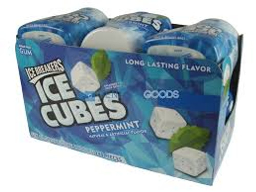 Ice Breakers - Ice Cubes - Peppermint, by Hersheys,  and more Confectionery at The Professors Online Lolly Shop. (Image Number :12475)
