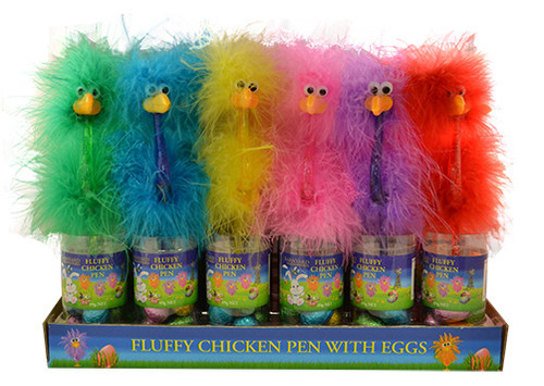 Fluffy Chicken Pen with easter eggs - SINGLE and more Confectionery at The Professors Online Lolly Shop. (Image Number :12521)